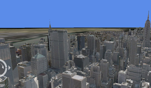Virtual Earth New York City Skyline