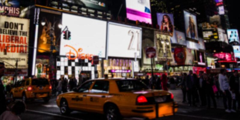 New York City blurred